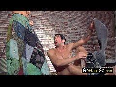 Секс с спортсменкой брюнеткой видео
